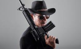 Old gangter machine gun Stock Photo