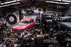 Old garage Stock Images