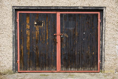 Old garage door Stock Photos