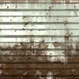 Old garage door. Grunge background and texture of abandoned industrial facility Royalty Free Stock Images