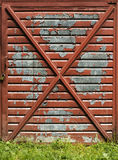 Old garage door Royalty Free Stock Image