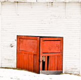 Old Garage Doors Royalty Free Stock Photography