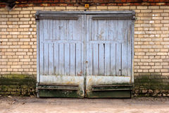 Old garage gate Royalty Free Stock Photography