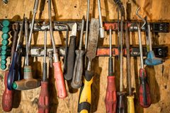 Old Garage Tools Royalty Free Stock Photos