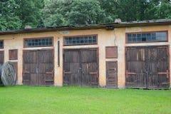 Old garages. Stock Photos