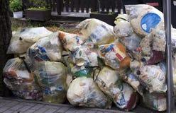 Old garbage stock image