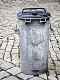 Old garbage bin Stock Photos