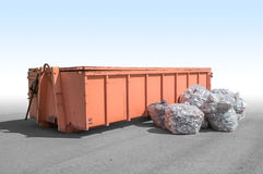Old garbage container Stock Image