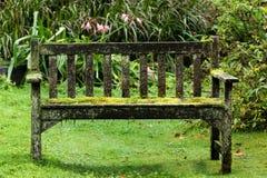 Old garden bench Stock Photo