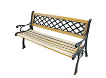 Old garden bench on white Stock Images