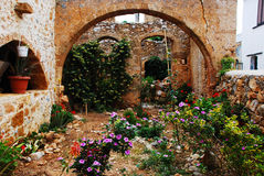 Old Garden in Crete Royalty Free Stock Photos
