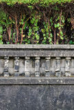 Old Garden Fence. Dark fence of a villa of the early twentieth century in northern Spain Stock Photography