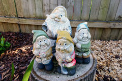 Old Garden Gnomes Royalty Free Stock Photos