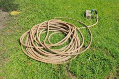 Old Garden Hose Stock Photo