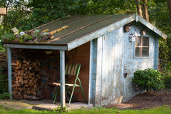 Old garden shed Royalty Free Stock Photos