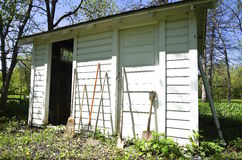 Old garden Shed with double doors Stock Image