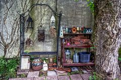 Old Garden Things royalty free stock photo