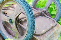Old garden wheelbarrow Royalty Free Stock Photo