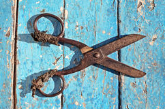 Old gardening scissors Stock Image