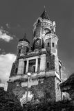 Old Gardos tower in Zemun, Belgrade in black and white Stock Images