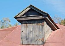 Old garret door Stock Image