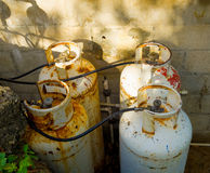 Old gas cylinders Stock Image