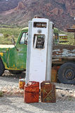 Old gas filling station Stock Image