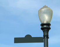 Old Gas Lamp With Sign for Copy Stock Photography