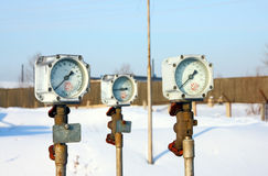 Old gas manometer Stock Images
