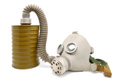 Old gas mask. Stock Photo