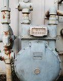 Old Gas Meter Stock Image