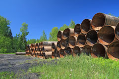 Old Gas Pipes Royalty Free Stock Images