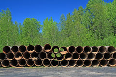 Old gas pipes Stock Photos