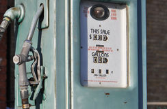 Old gas pump. Royalty Free Stock Photo