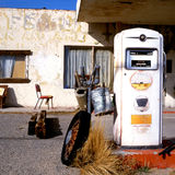 Old Gas Pump At Route 66 Royalty Free Stock Photos