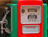 Old gas pump to a gas station Royalty Free Stock Photos