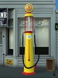 Old gas pump. An old gas pump used in the 30s stock photography