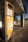 Old gas pumps - color stock photography