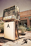 Old gas station. An old abandoned gas station