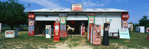 Old gas station Stock Photography