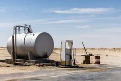 Old Gas Station Desert Rub al Khali Oman Dhofar Region royalty free stock photo