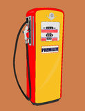 Old gas station. Illustration of a old gasoline station royalty free illustration