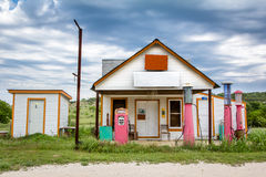 Old Gas Station. An old Gas Station with outhouse in Texas Royalty Free Stock Photography
