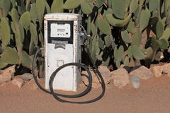 Old gas station and petrol pump in Namibia Stock Images
