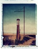 Old gas station on the prairies. Old, abandoned gas station on the prairies Royalty Free Stock Photography