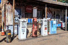 Old gas station Stock Image