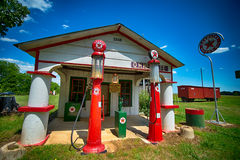 Old gas station in south carolina Stock Photo