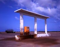 Old gas station at Yemen border royalty free stock photo