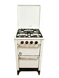 Old gas stove Royalty Free Stock Photography