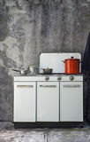 Old gas stove Royalty Free Stock Photo